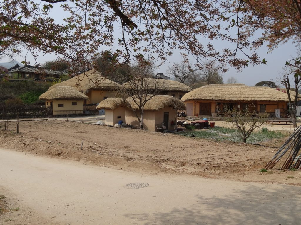 Le village Coréen traditionnel d'Hahoe près d'Andong.
